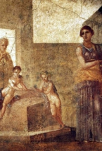 Medea and her children. House of the Dioscuri. Pompeii, Italy - Museo Archeologico, Naples